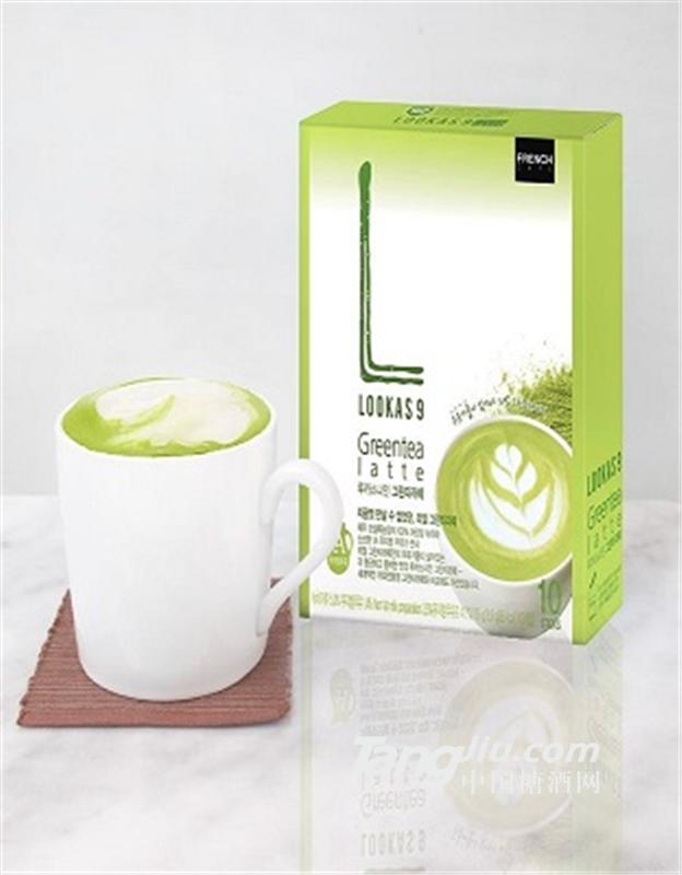 韩国南阳乳业lookas9绿茶拿铁/抹茶拿铁咖啡
