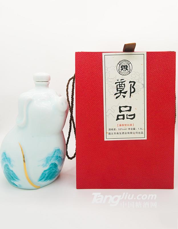 53度 郑品 酱香型白酒 1.5L