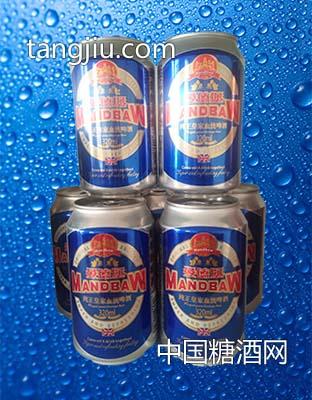 曼德堡啤酒罐装蓝320ml