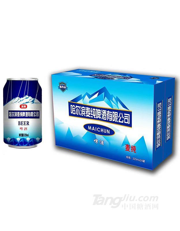 哈尔滨麦纯啤酒-320mlx24