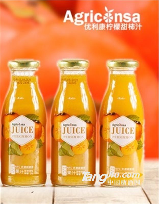 优利康 NFC柠檬甜柿汁 250ml