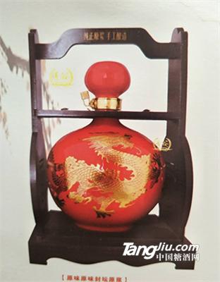 原味原浆-5斤装坛子酒(金龙纹红)