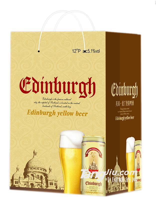 爱丁堡手提袋黄啤500×12