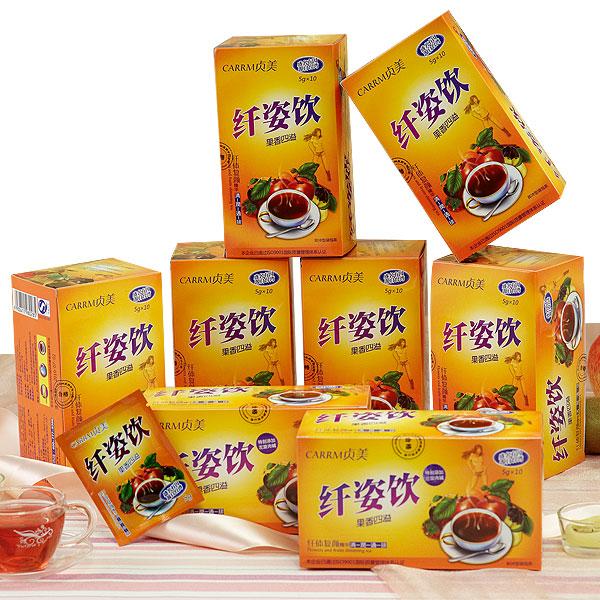 万松堂苹果荷叶乌龙茶招商 纤姿饮 水果减肥茶