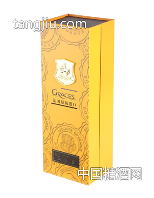 格拉芙法国原装进口红酒礼盒(黄色)