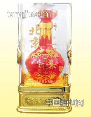 北京二锅头 56度500mLx6 水晶盒.