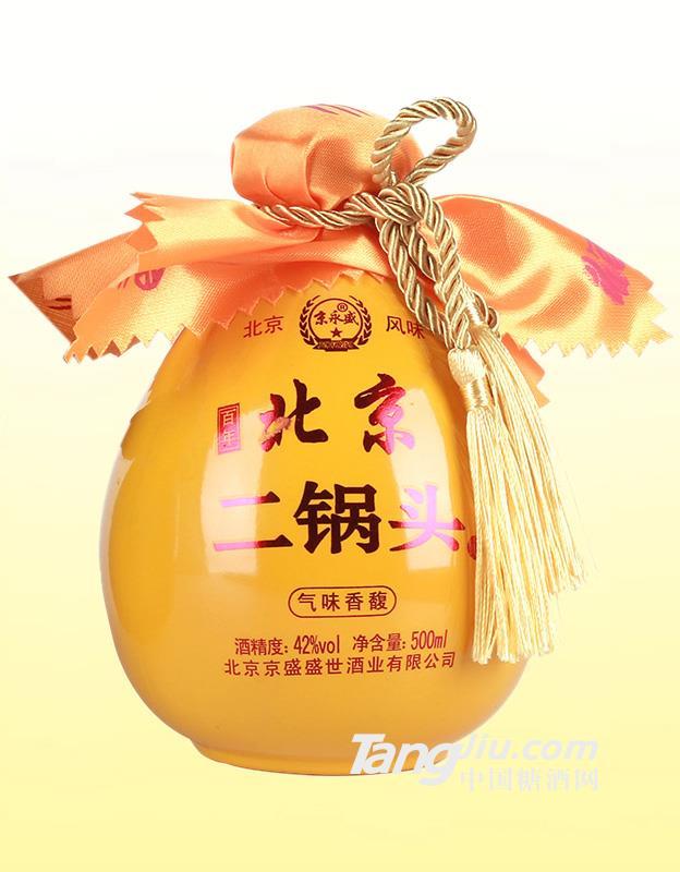 42°北京二锅头黄瓷(气味香馥)-500ml
