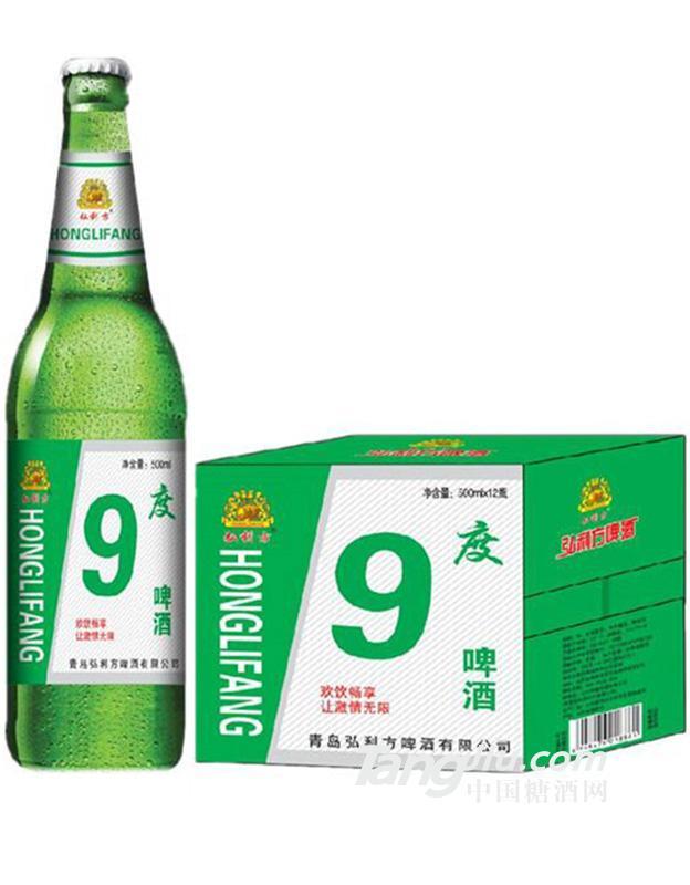 弘利方9度啤酒500mlx12瓶