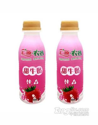 汇源农谷甜牛奶草莓味380ml