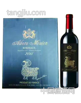 艾伯如木桐堡梅洛红葡萄酒