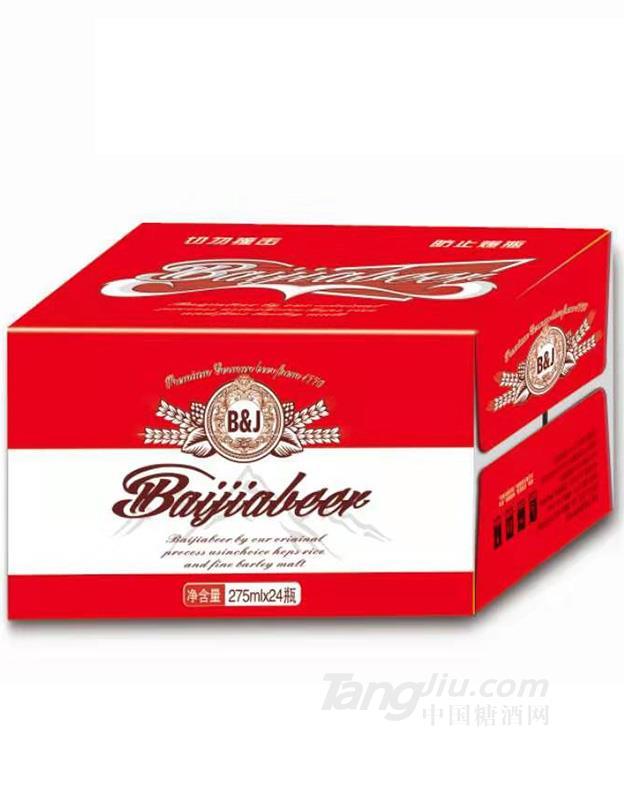 百佳啤酒瓶装-275mlx24