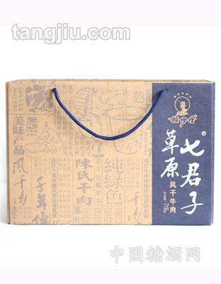 独伊佳草原牛肉干七君子盒718g01