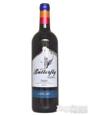 法国蝴蝶红葡萄酒2013