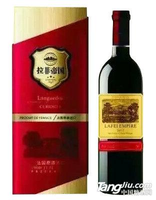 拉菲帝国红葡萄酒红盒
