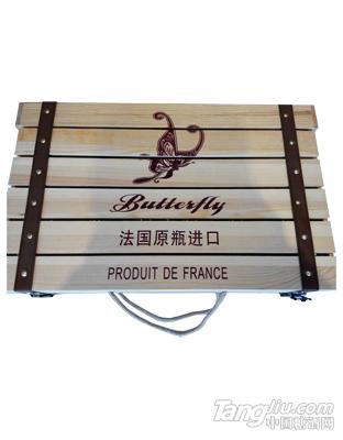 法国进口蝴蝶葡萄酒木箱1