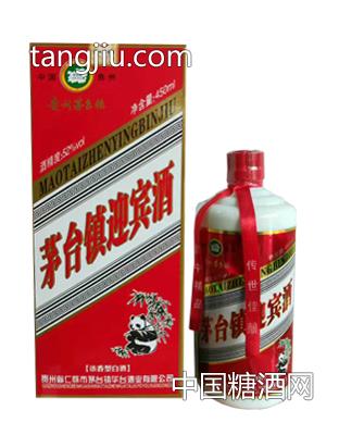 茅台镇迎宾酒浓香型熊猫52度450ml