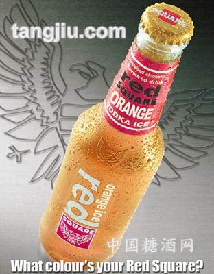 红广场饮料橙冰
