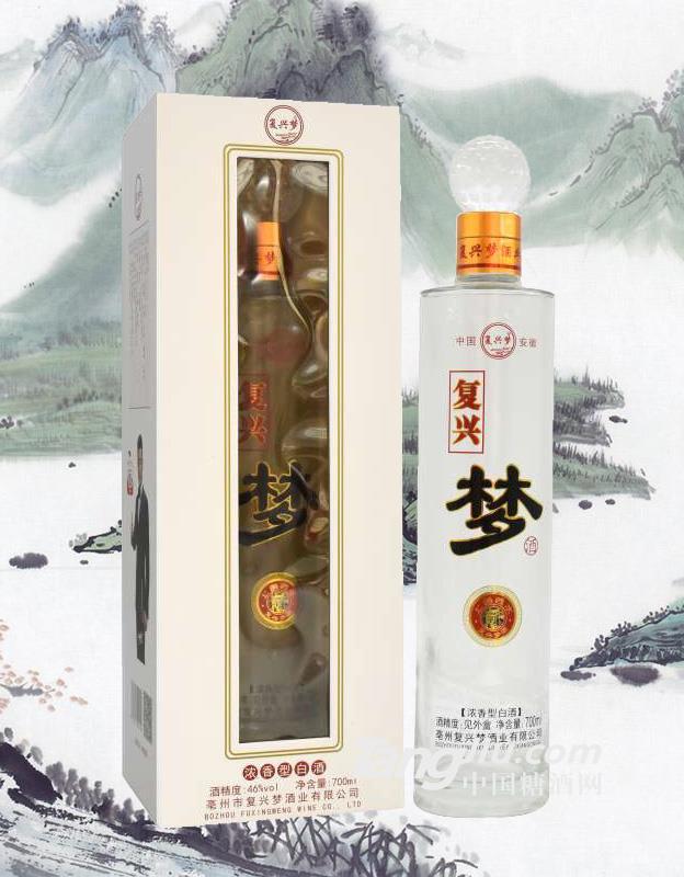 复兴梦浓香型白酒700ml