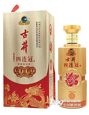 50° 古井四连冠酒(金瓶) 500ml