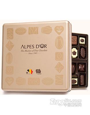比利时原装进口巧克力 爱普诗精选巧克力什锦礼盒216g