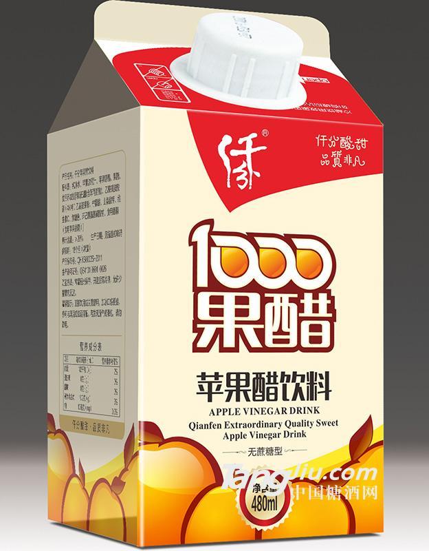 仟分 苹果醋饮料 480ml