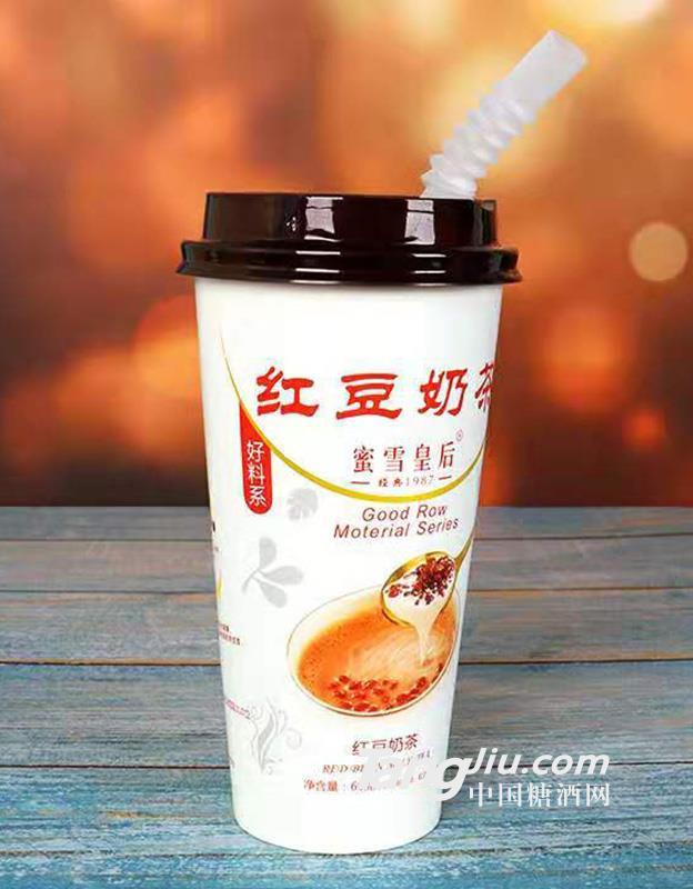 蜜雪皇后-红豆(高杯)奶茶30杯-箱