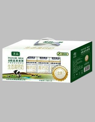 生态高钙奶箱子
