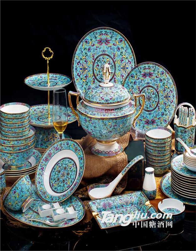 供应春节礼品陶瓷餐具套装 活动礼品餐具批发