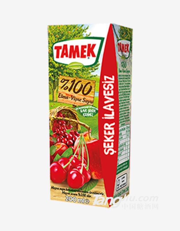 荅梅肯TAMEK苹果樱桃混合果汁100%