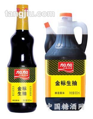 加加金标生抽王酱油500ml