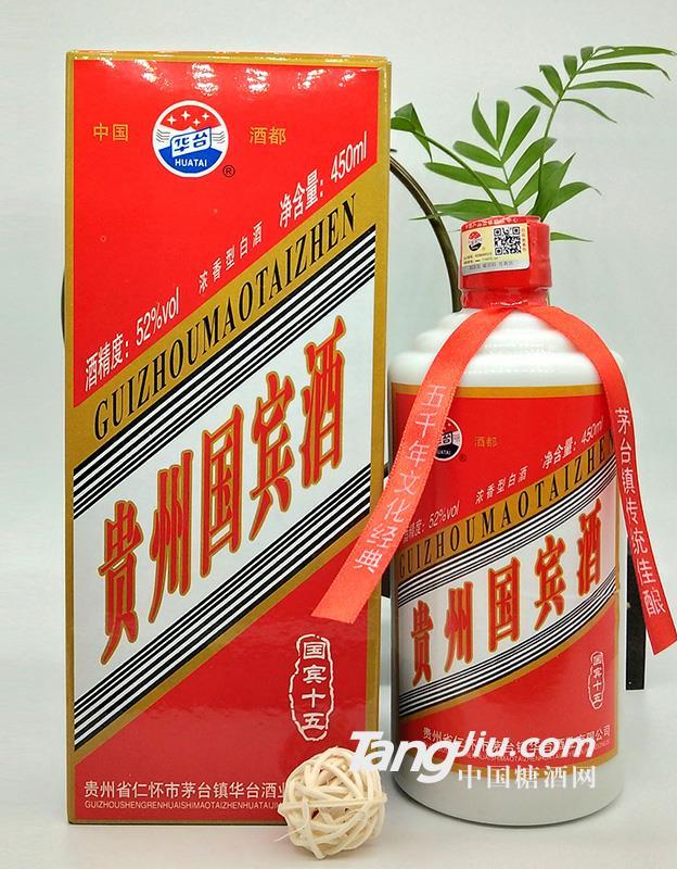 华台浓香型52度贵州国宾酒-450ml