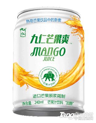 九仁芒果爽芒果汁罐装.