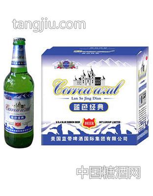 蓝带啤酒-蓝色经典灌装啤酒508mlx12