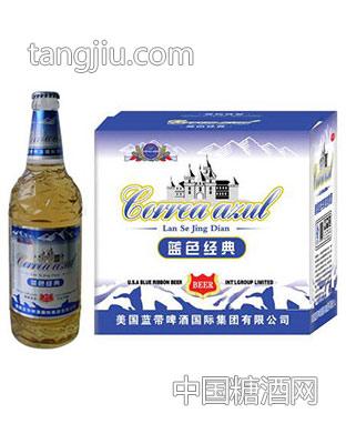 蓝带啤酒-蓝色经典618mlx12
