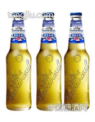 蓝带啤酒-浮雕瓶330ml