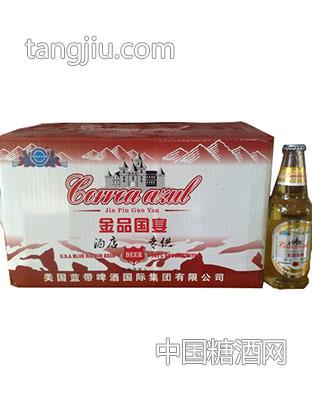 蓝带啤酒-金品(红)