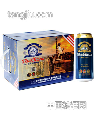 蓝带啤酒-蓝色经典1875啤酒500ml