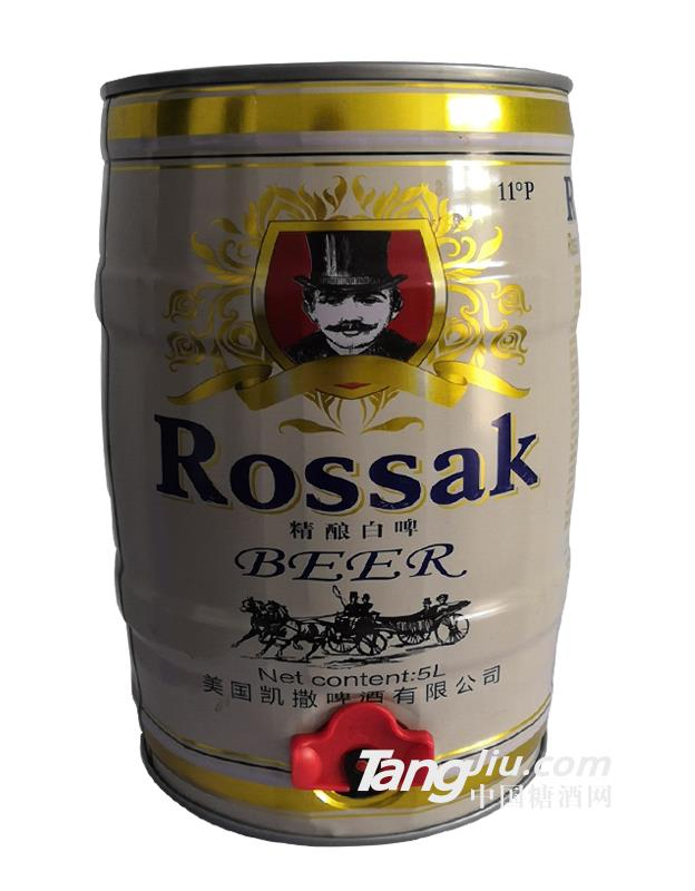 美国凯撒精酿白啤-5L