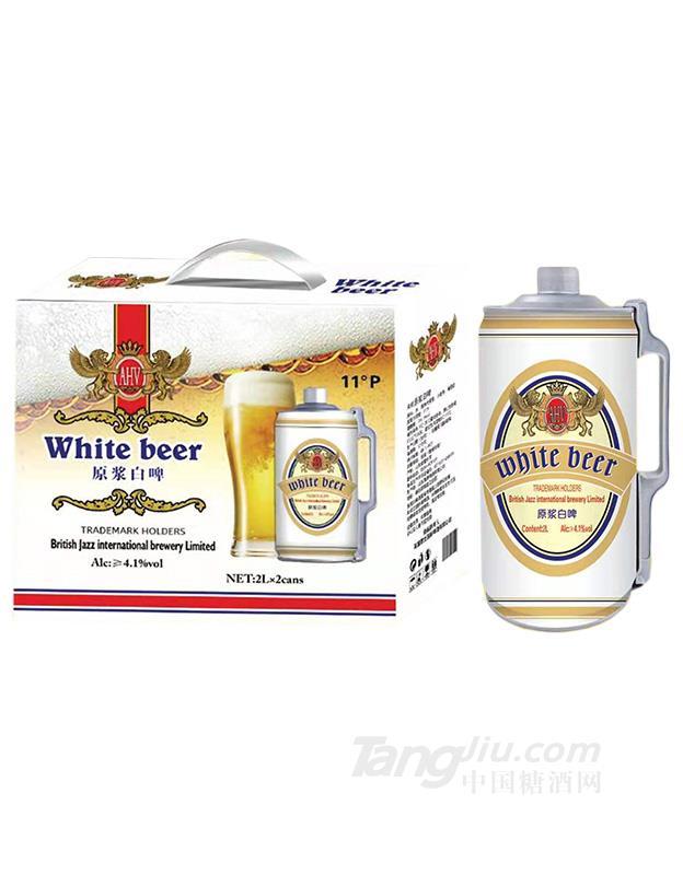 美国凯撒原浆白啤2L