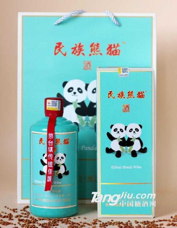 熊猫酒 53%vol民族熊猫酱香型白酒500ml