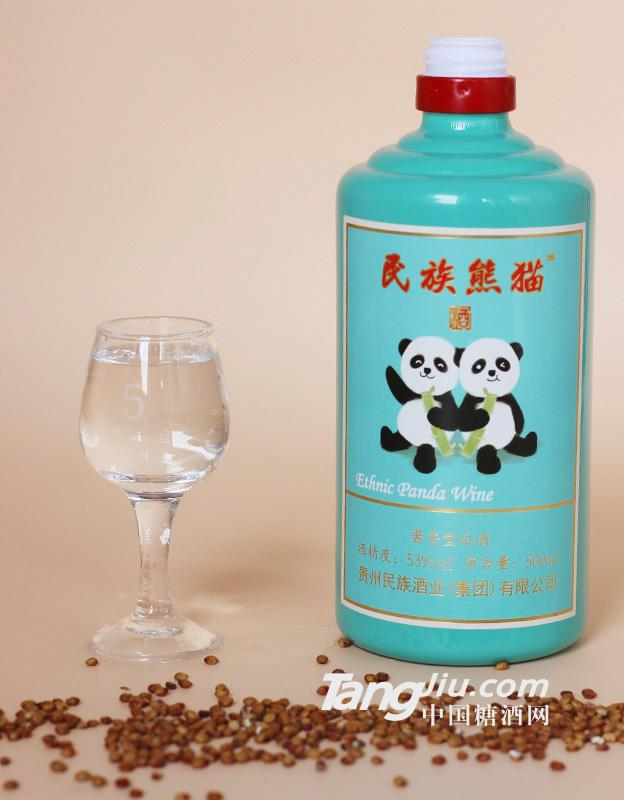 53° 熊猫酒 民族熊猫酒 酱香型白酒500ml 民族ope体育电子竞技游戏平台集团
