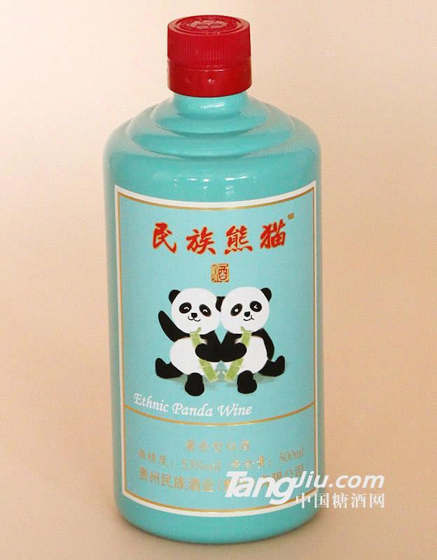 53%vol民族熊猫酱香型白酒500ml