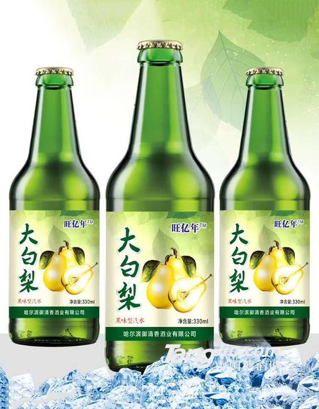 大白梨果味汽水330ml
