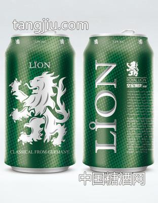 皇家狮牌罐子立体效果图-啤酒-卢温堡酒业