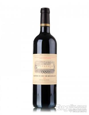 法国原瓶进口鲁西荣伯爵城堡干红葡萄酒750ml