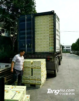 集装箱发货5--青岛汇海铭洋啤酒