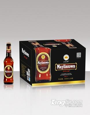 棕瓶箱装美林小镇啤酒