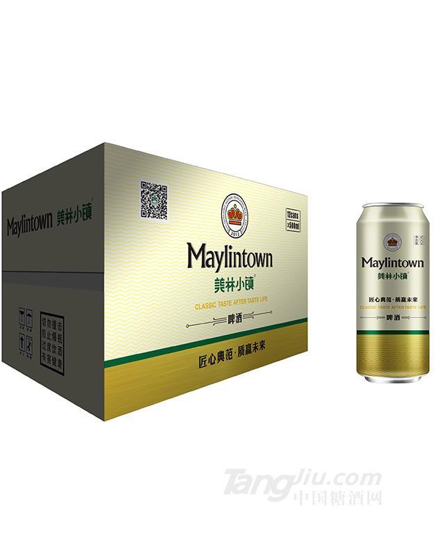美林小镇啤酒500ML银罐