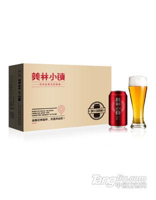 美林小镇啤酒330ML红罐包装