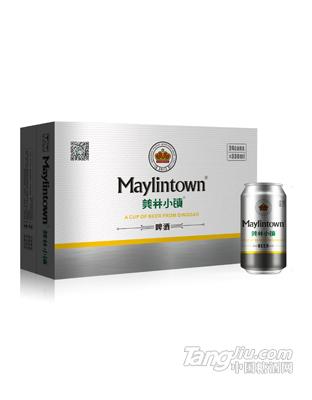 美林小镇啤酒330ML银罐包装